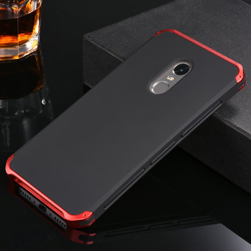 imágenes para Caso Marco Del Metal de Aluminio de Protección XiaoMi Redmi Nota 4x + Policarbonato Caso de La contraportada para XiaoMi Redmi Nota 4 Pro 4x Cubierta