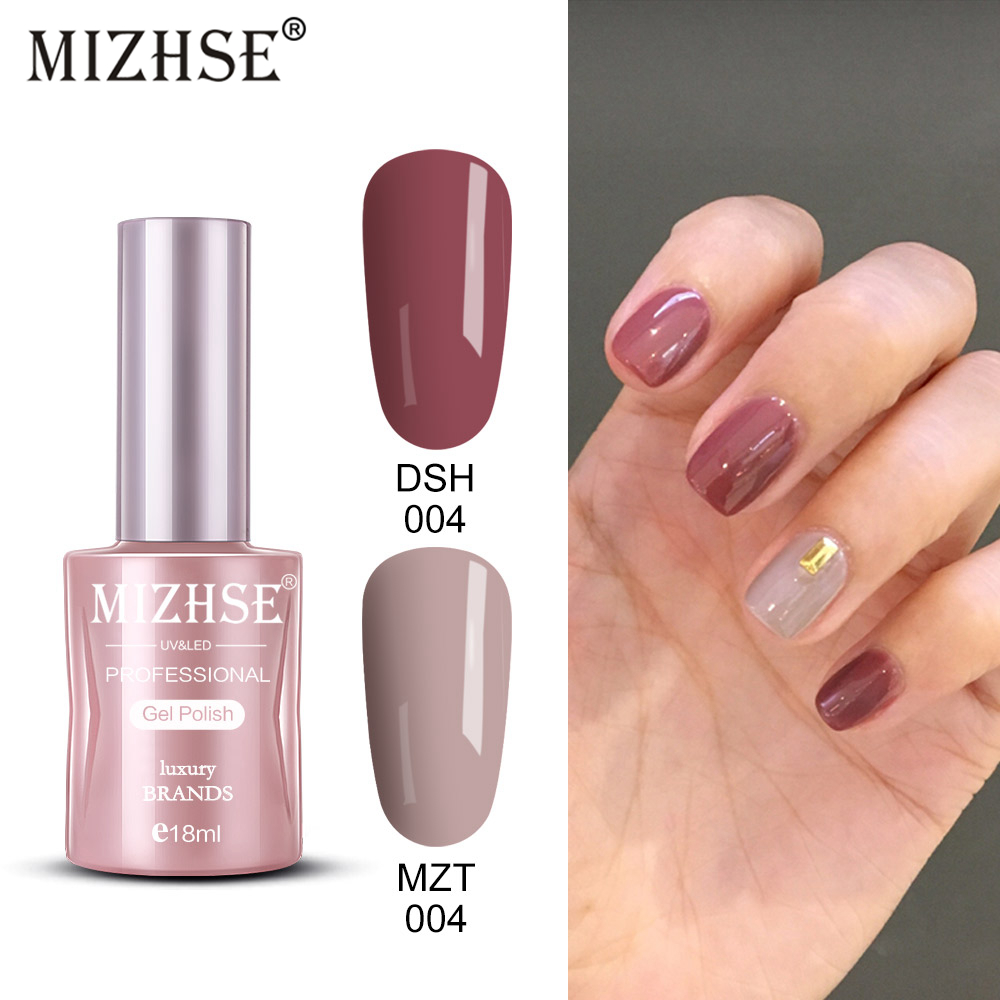 MIZHSE 18ml Gel Varnish Nail Polish All For Manicure Kit Gel Soak-off White Top Coat UV Gel Varnishes Hybrid Nail Polish Set