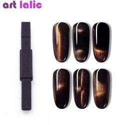 1pc fort magnétique Double tête ongle bâton 3D chat oeil effet aimant pour UV peinture Gel vernis à ongles lampe UV pour Gel vernis