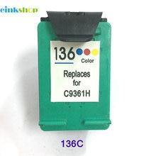 1pcs Ink Cartridge For HP 136 For HP Officejet 6213 Deskjet 5443 D4163 Photosmart 2573 C3183 D5163 PSC 1513 1513s