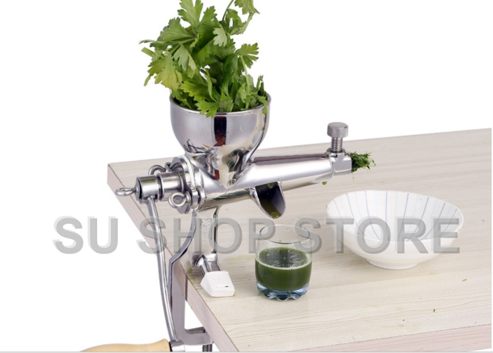 Mão de Aço Inoxidável manual de wheatgrass juicer Lento Trado orange imprensa suco de grama De trigo Espremedor de frutas Vegetal Extractor