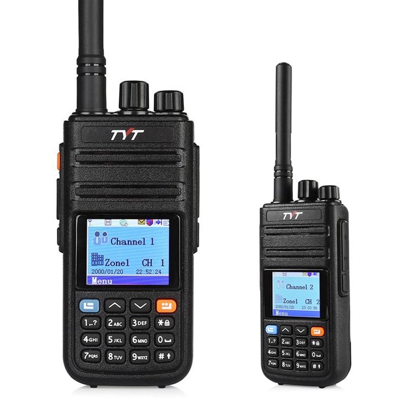 TYT MD-380G GPS DMR Digital Walkie Talkie Radio UHF 400-480MHz Transceiver MD 380G Krypteringsfunktion
