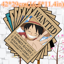 9*(42x29cm)NEW One Piece Wanted poster Anime around poster Wall Sticker