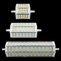 DHL Бесплатная 30 шт./лот 85-265 В 7 Вт 9 Вт 10 Вт 12 Вт 15 Вт R7S прожектор чип светодиодные лампы SMD 5050 теплый/холодный белый Бесплатная доставка