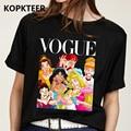 Roupas femininas 2019 camiseta femme harajuku preto t camisa engraçado kawaii princesa streetwear estético topos vogue camisa mujer