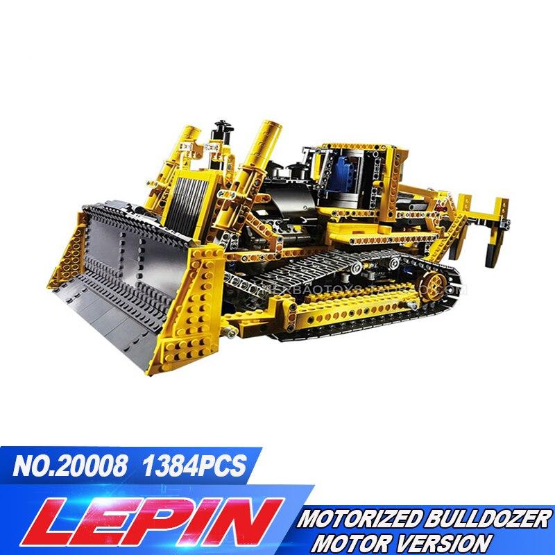 DHL LEPIN 20008 technic series 1384pcs the bulldozer Model Building blocks Bricks kits Compatible 8275 Toys for children цена