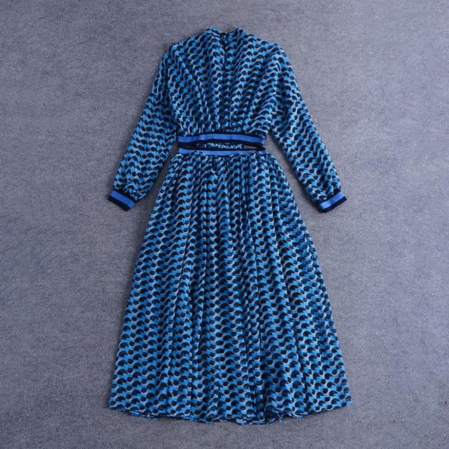 [DEAT] 2020 Spring Summer New Pattern Turtleneck Three Quarter Sleeve Hollow Empire Waist Printing Ladies Sexy Tunic Dress BA626 3