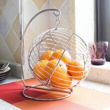 Circle swing air keluli tahan karat buah bakul fesyen compotier barangan rumah