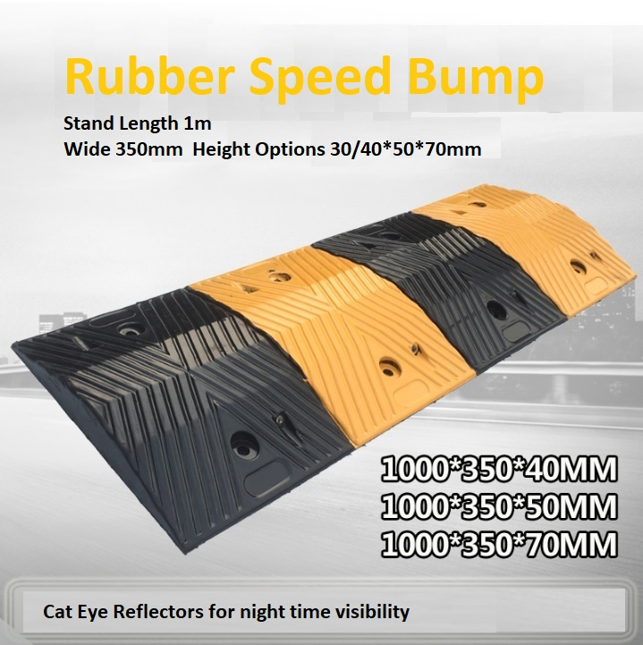 Rubber Speed Bump 350mm Width 1m Length mr bump