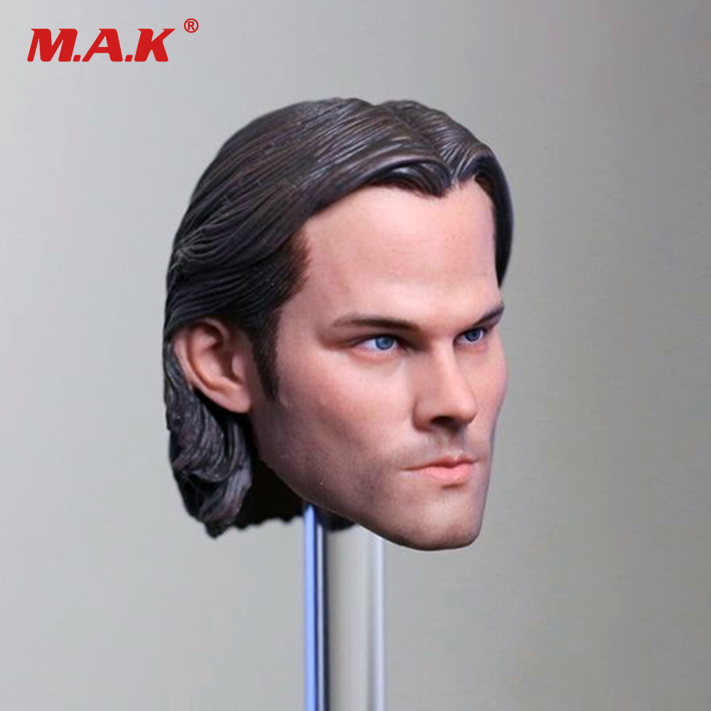 1/6 Scale Supernatural Sam Winchester Jared Padalecki Head Sculpt Head Carving Model Collectible Doll Toys Accessories