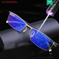 Anti Blue Rays Transition Progressive Multifocal Reading Glasses Men Anti Glare Presbyopia Eyewear diopters glasses
