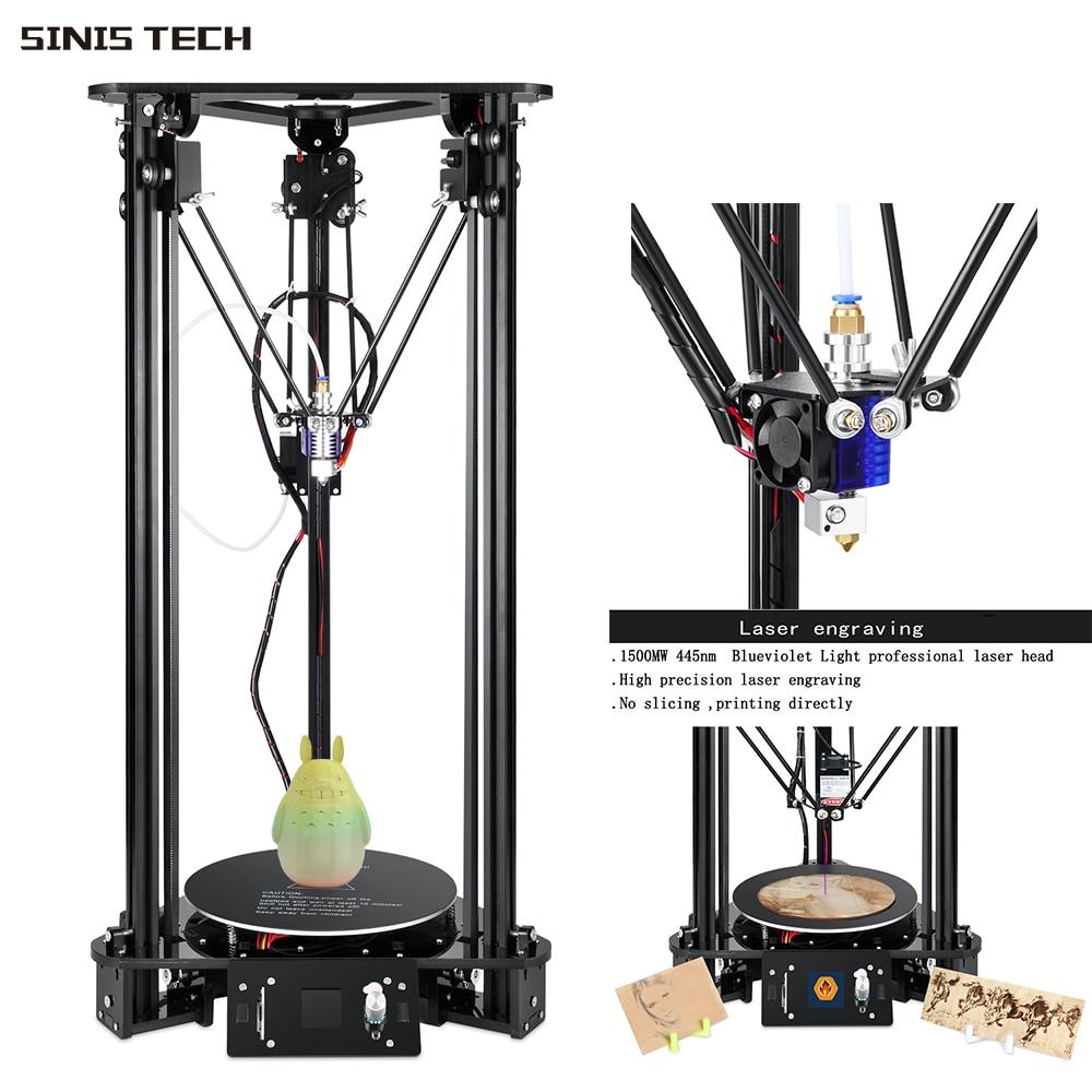 Sinis 3D Printer Smart Leveling Optional 1500MW Laser Head 3D Printer DIY Kits Aluminum & Acrylic Fram Ship from Czech RepublicSinis 3D Printer Smart Leveling Optional 1500MW Laser Head 3D Printer DIY Kits Aluminum & Acrylic Fram Ship from Czech Republic