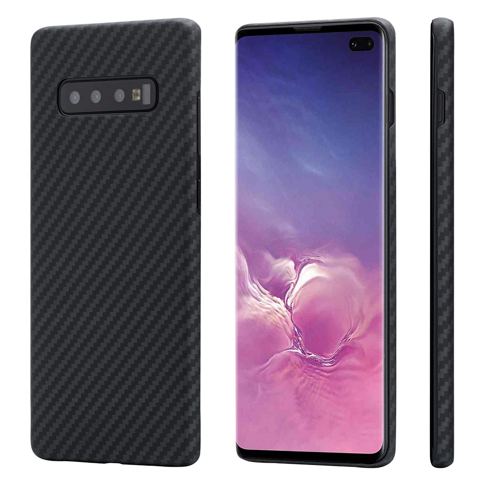 Étui pour Samsung Galaxy S10 Plus en Fiber d'aramide véritable avec Protection complète en Fiber de carbone pour étui Samsung S10 S10E