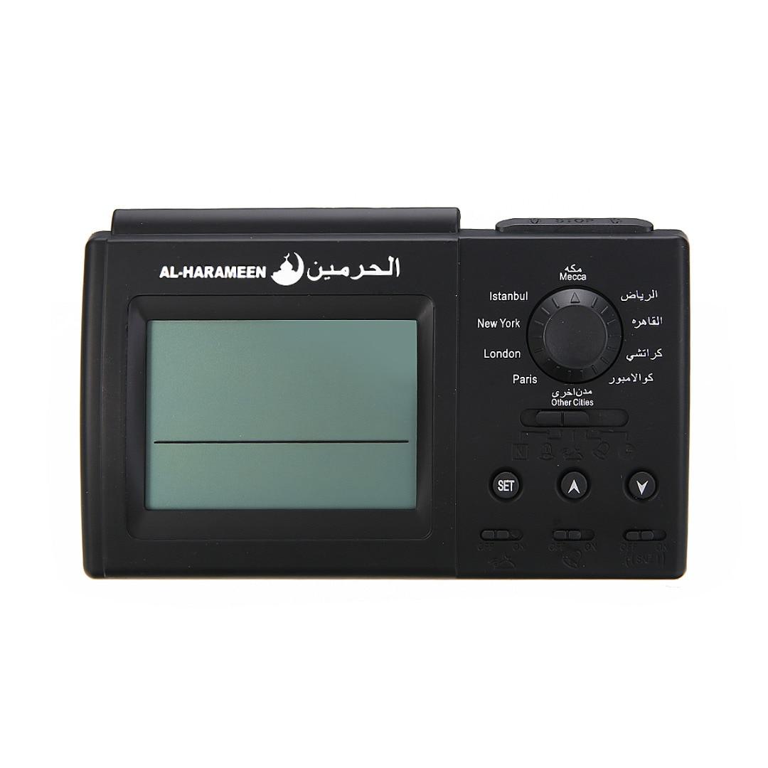 1PCS Black Automatic Digital Clock Islamic Azan Muslim Prayer Alarm Adhan Home Table Desktop Snooze Alarm Clock High Quality