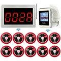 Draadloze Kelner Service Call System Ontvanger Host Voice Display + 2 Horloge Ontvanger Gastheer Gast + 10 Call Zender Knop