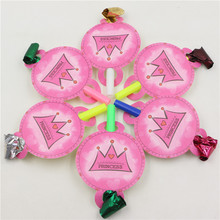 Set of 6 Pink Noisemakers