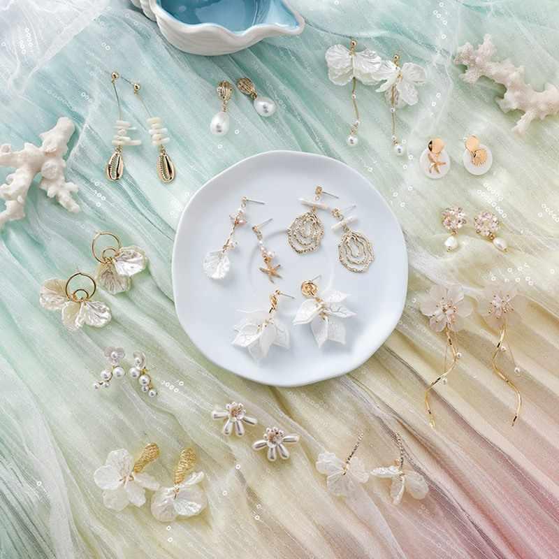 30 estilos brincos para mulheres brincos doce concha pendientes menina orelha jóias boucle doreoreille femme 2019 flor brincos