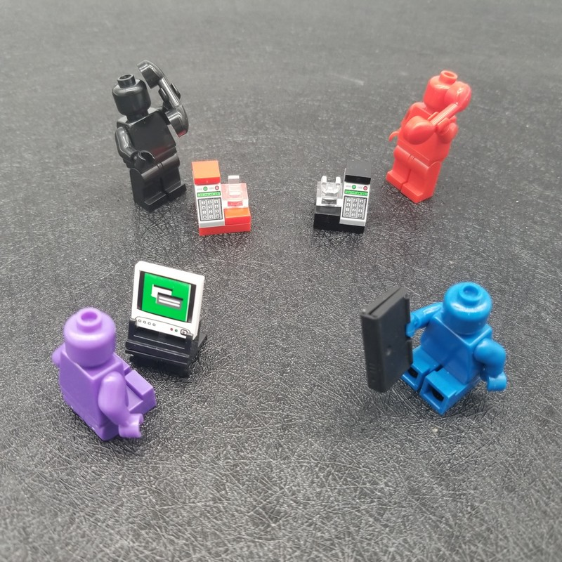 5 Teile/satz Telefon Laptop Handy Computer Gebäude Ziegel Diy Block Zubehör Moc Büro Stadt Spielzeug Für Kinder X054 Sparen Sie 50-70%