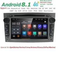 600*1024 QuadCore 2din Android 8,1 DVD плеер автомобиля для Opel Corsa Vectra C D Meriva Vivaro Tigra Signum навигационный GPS радиоприемник DAB МЖК 4 г