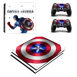 Image 4 - Spiderman Design Skin Sticker For Sony Playstation 4 Pro Console & 2PCS Controller Skin Decal For PS4 Pro Game Accessories