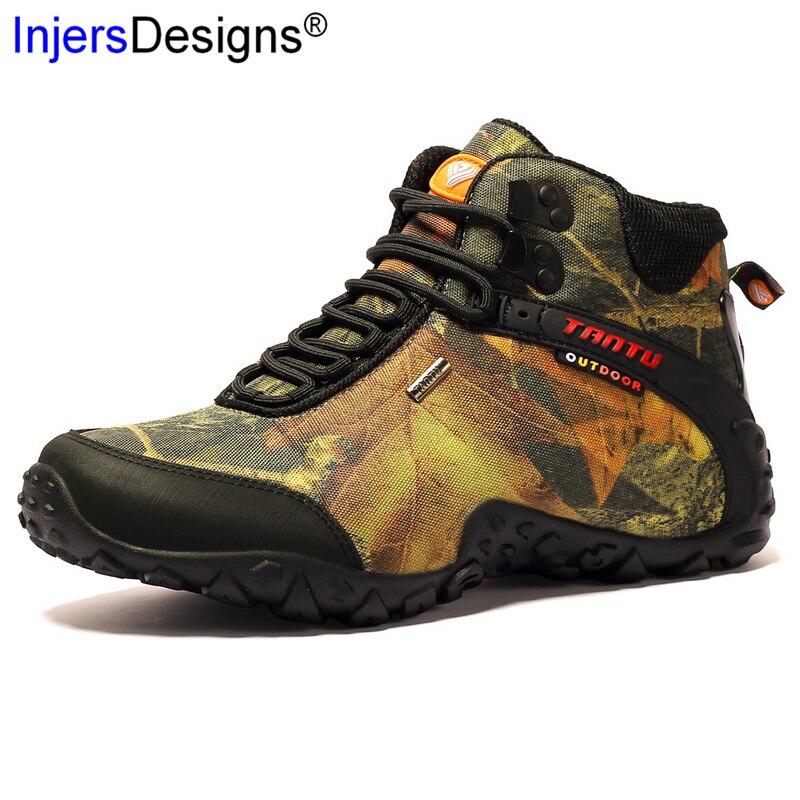Plus Size 40 46 Outdoor Laarzen Mannen Werken Laarzen Nieuwe Winter Herfst Mode Camouflage Waterdichte Slijtvast Mannen laarzen Botas Hombre