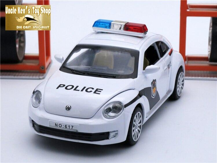 15 cm längd VW Bietleformad bil, 1:32 skalle legering modell, metall - Bilar och fordon - Foto 2
