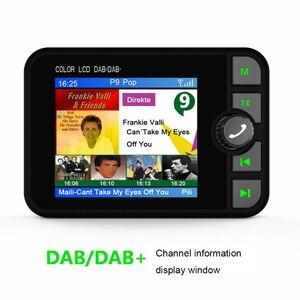 Image 5 - MINI DAB วิทยุบลูทูธ MP3 เครื่องเล่นเพลง FM Transmitter ADAPTER ที่มีสีสันหน้าจอ LCD สำหรับรถยนต์อุปกรณ์เสริม