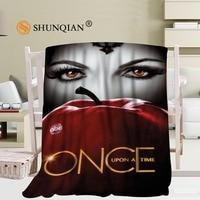 Custom Once upon a time Coral Blankets Travel Sofa Falafel Blankets Soft Fluffy Warm 56x80inch 50X60inch 40X50inch