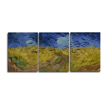 Laeacco 3 Panel Graffiti Van Gogh Abstract Posters Prints Canvas Calligraphy Painting Wall Artwork Nordic Home Living Room Decor