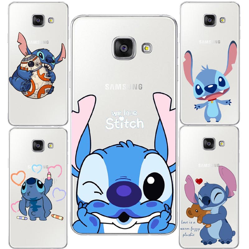 Cute Cartoon Stich Coque Shell Soft Silicone Tpu Phone Case For Samsung Galaxy S6 S7 Edge S8 S9 Plus Note 9 Note 8 Phone Pouch