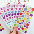 6 PCS Colorful Geometric Heart Shape Sticker 15CM Diary Scrapbook Calendar Notebook Label Decoration Children Gift Stickers