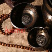 8 17 5cm One Set Tibetan Buddhism Singing Bowl For Meditation And Healing Craft Gift