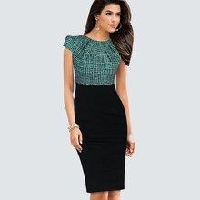 Женское летнее повседневное ДРАПИРОВАННОЕ лоскутное облегающее платье, элегантное офисное деловое облегающее платье-карандаш HB316
