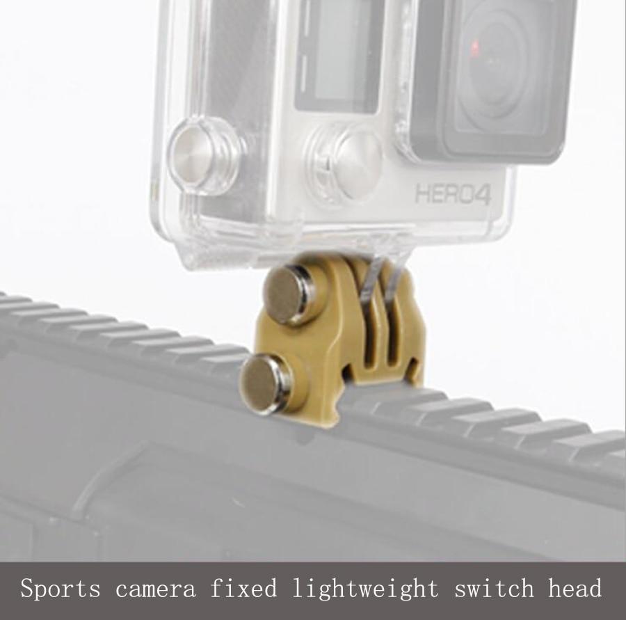 Go Pro Accessories 20mm Picatinny Gun Rail Mount Airsoft Gun Adapter Kit for GoPro Action Shot gun Hunting Rifle Camera mount фляга shot gun
