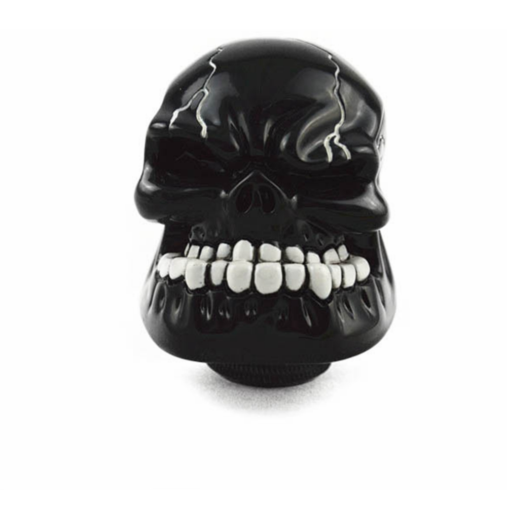 Universal Car Manual Gear Stick Shift Shifter Lever Knob Wicked Carved Skull Mask Black Silver Red