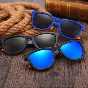 Image 5 - EINE SWALLOW MARKE DESIGN Männer Sonnenbrille Bambus Sonnenbrille Handgemachte Holz Rahmen Polarisierte Spiegel Objektiv Klassische Gafas de sol UV400