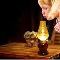 Винтаж Стиль Свадебные Украшения/Дуя Управления Ретро Керосин СВЕТОДИОДНЫЕ настольные лампы Затемнения USB Аккумуляторная СВЕТОДИОДНЫЕ настольные лампы IY106143