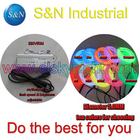 Ten color 5.0MM100M Flexible el Wire Tube Neon Light &100 240VAC inverter for holiday,party,festival and house decoration