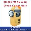 Fmuser RD-339 FM AM radio Dynamo Linterna Solar de Radio de emergencia recargable para teléfono con conexión linterna que Envía