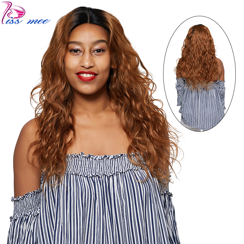 KISSMEE Body Wave Lace Front Wig Brazilian Hair 100% Human Remy Hair Body Ombre Lace Wig For Black Women With Boby Hair 1B30