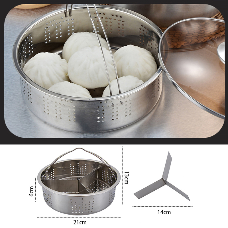 Stainless Steel Steamer Steam Rack Cookware Food Vegetables Egg Cooking Tableware Kitchen Accessories Dish