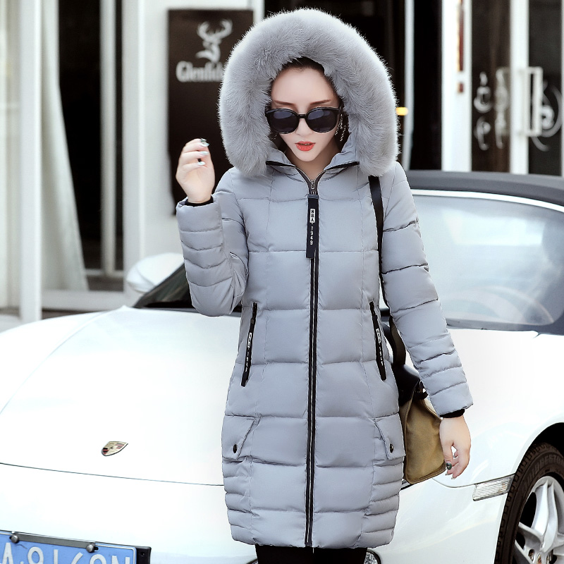 Women's Thick Warm Long Winter Jacket Women Parkas new2017 Faux Fur Collar Hooded Cotton Padded Winter Coat Female Manteau Femme women s thick warm long winter jacket women parkas 2017 faux fur collar hooded cotton padded coat female cotton coats pw1038
