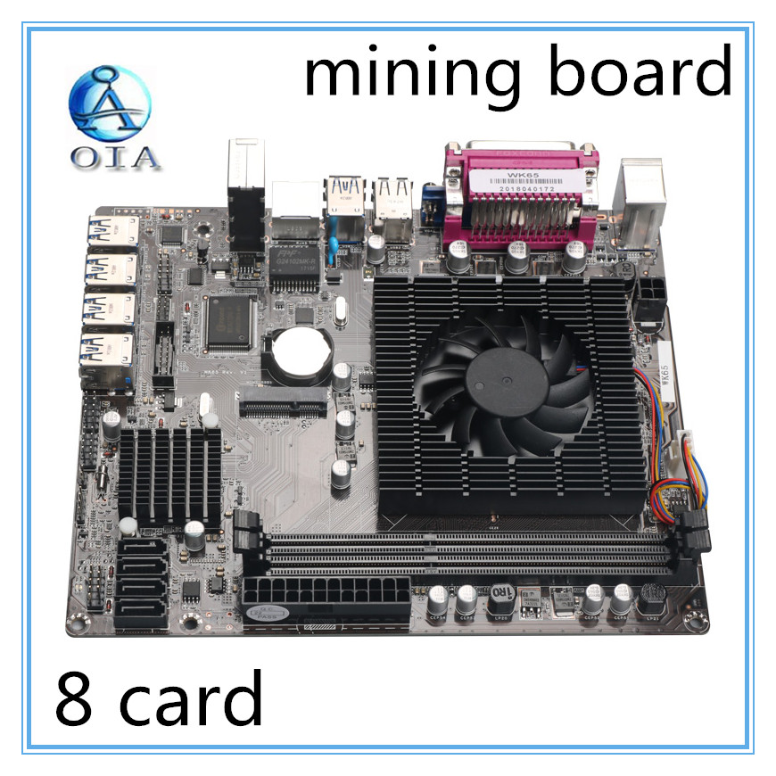 WK-65 New Mining Motherboard Mainboard DDR3 Memory 8 Card USB3.0 Expansion Adapter Desktop Motherboard
