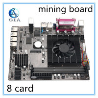 WK 65 New Mining Motherboard Mainboard DDR3 Memory 8 Card USB3.0 Expansion Adapter Desktop Motherboard