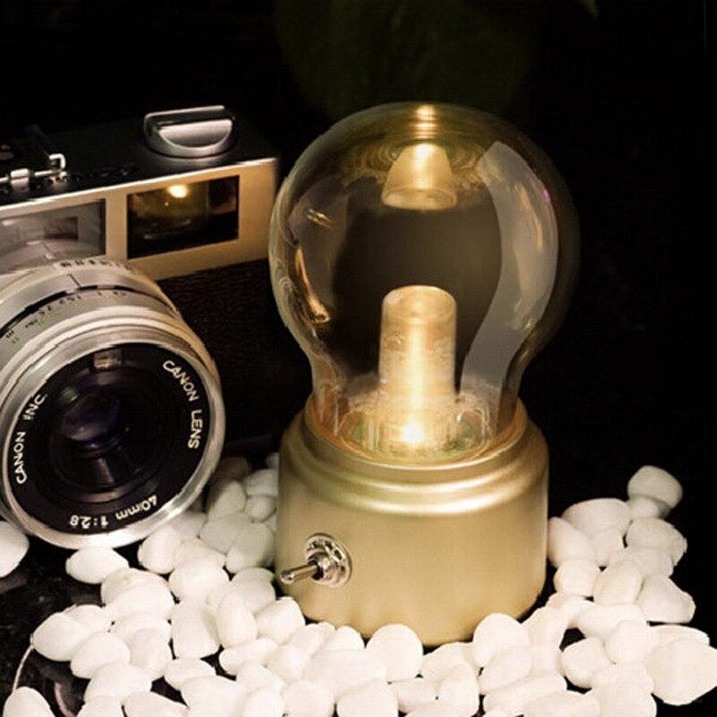 Ретро металлический шарик в форме ночник зарядка через usb светодиодный кровать украшения ночники Рождественский Декор VES72 T40