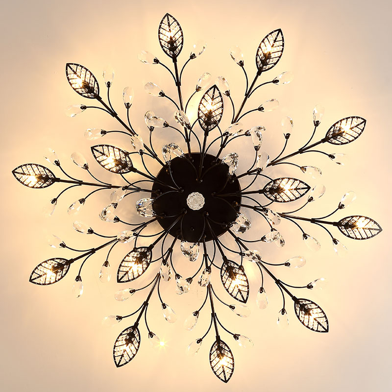 LED Ceiling Lights for Living Room Flower Ceiling Lamp Flush Mount Crystal Ceiling Lights Bedroom Ceiling Lamps for Living Room цена 2017