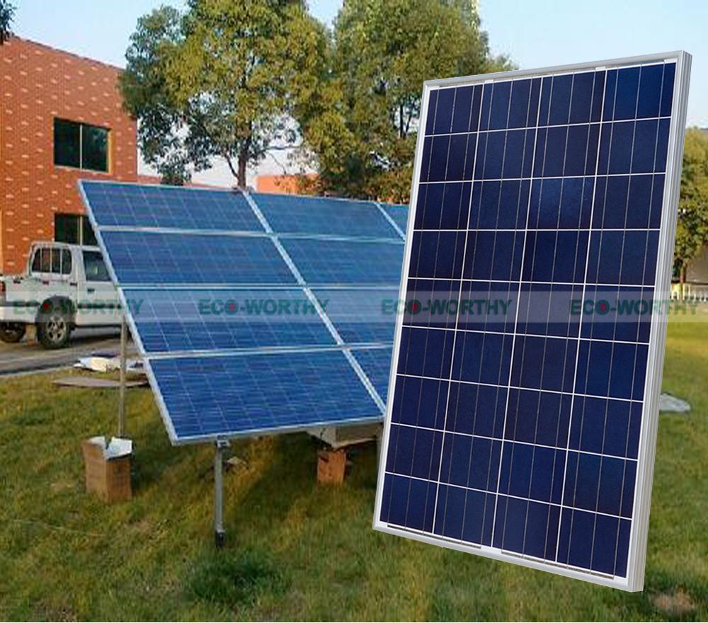 US $555 0  400Watt Poly Solar Panel Kit:4x100W Solar Cell Off Grid for 12V  System RV Boat Solar Generators-in Alternative Energy Generators from Home