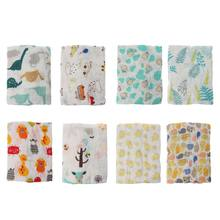 Muslin Baby Swaddl Blanket Newborn Rayon Stretch Knit Wrap Hammock Swaddling Padding Nubble Wraps Bath Towel(China)