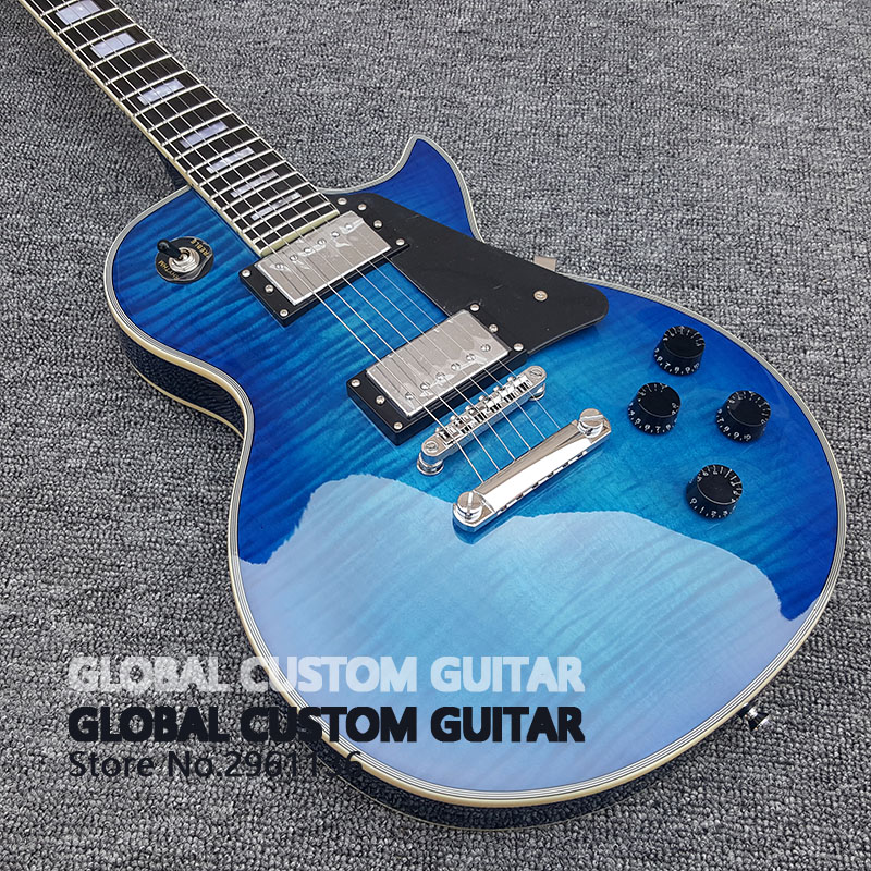2017 New Wholesale Custom shop Navy electric guitar  Custom LP  electric guitar HOT! Free shipping best price wholesale les new paul custom shop black electric guitar paul fret binding china guitar factory free shipping