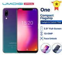 UMIDIGI ONE Global version 5.9fullsurface mobile phone Android 8.1 P23 Octa Core 4GB 32GB smartphone 12MP+5MP Dual 4G cellphone